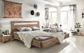 Woodkings Holz Bett 180x200 Marton Doppelbett Akazie Gebürstet