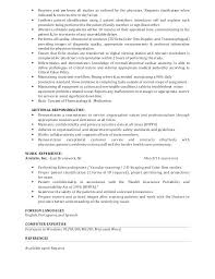 Ultrasound Technician Resume Examples Ultrasound Technician Resume ...