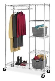 Rolling Coat Rack With Shelf Enchanting Amazon Whitmor Supreme Rolling Garment Rack Chrome Home Kitchen