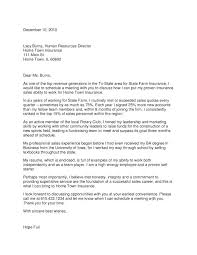 Awesome Collection Of Cover Letter Examples For Insurance Company