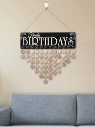 family celebration calendar wooden reminder board