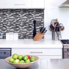Stick On Backsplash For Kitchen Smart Tiles 1020 In X 910 In Mosaic Adhesive Decorative Wall