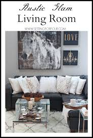 choosing rustic living room. Come See My Rustic Glam Living Room Makeover And New Area Rug! I\u0027m Choosing L