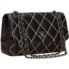 Chanel Black Quilted Lambskin Wild Stitch Flap Bag at 1stdibs & Chanel Black Quilted Lambskin Wild Stitch Flap Bag 1 Adamdwight.com