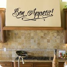 bon appetit free hand version  on vinyl wall art quotes for kitchen with kitchen wall decals quotes and sayings wallwritten