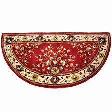 56 half round burdy oriental fireplace rug