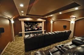 media room paint colorsCool Modern Entertainment Media Room Design Combine With L Shape