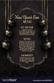 New Year Menu Luxurious Elegant New Years Eve Menu Design