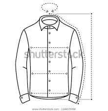 Men S Shirt Sizes Chart Mens Shirt Size Chart Vector Flat Stock Image Download Now