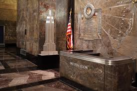 empire state building interior. the information desk in empire state building lobby interior