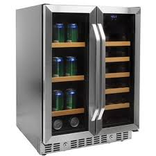 built in beverage refrigerator. EdgeStar 24 Inch Built-In Wine And Beverage Cooler With French Doors Built In Refrigerator T