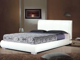 white faux leather bed in double or king 2 white