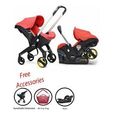 doona infant car seat stroller with base all day bag sunshade extension red love free no tax
