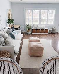 poufs instead of a coffee table would