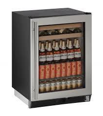 Undercounter Beverage Refrigerator Glass Door Undercounter Beverage Center At Us Appliance