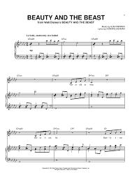 beauty and the beast sheet music beauty and the beast sheet music by celine dion sheet music beast