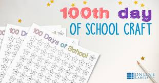 100 Days Of School Countdown Chart Kids Craft