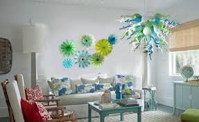 viz art glass chandelier wall plate