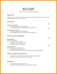Great Job Skills Resume Job History Format A For First How To Make Unique Great