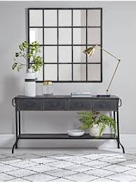 black hall console table. Industrial Iron Console Table Black Hall