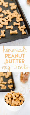 making homemade snacks for your four legged friend is a breeze with this simple peanut