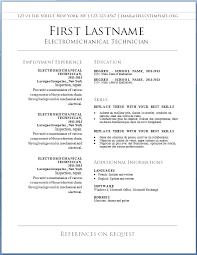 Microsoft Word Resume Template 2010 Free Template Basic Resume Templates Download At Microsoft