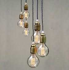 set of three bulb pendant lights uniques co set of three pendant lights