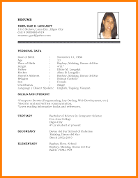 A Simple Resume Format Nmdnconference Com Example Resume And
