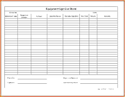 Key Sign Out Sheet Key Sign Out Form Template