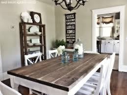 country dining room ideas. Dining Room, Modern Country Room White Armchair Grey Patterned Cushion Hang Cookware A Glass Table Ideas