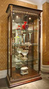 Decorative Display Cases Luxury French Baroque Style Living Room Wine Cabinet Classic