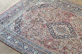 pale blue and rose najafabad persian rug zoom