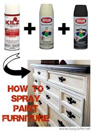 how to spray paint furniture classy