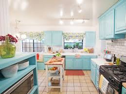 Kitchen With Blue Walls Sky Blue Colour Wall