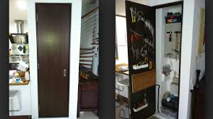if you live in a small space but need room to organize your tools or get a little work done look no further than the back of your closet door