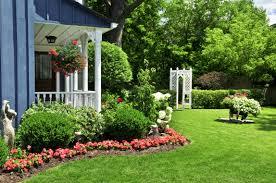 Garden Design Front Of House New Flower Gardens In Front Of House Home  Design And Decorating