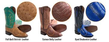 cowboy boot leathers