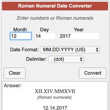 Roman Numerals Conversion Chart Roman Numeral Date Converter