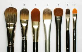 mac face brushes. mac face brush #189 2. foundation #190 3. chanel #16 4. prescriptives 5. giorgio armani blender mac brushes