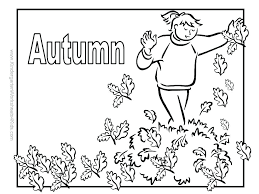 seasons coloring pages printable season 7 best images of 4 autumn fall pictures for kids