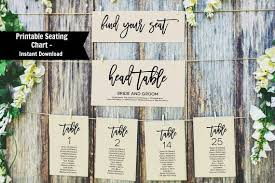 Printable Seating Chart Wedding Seating Chart Editable Table Numbers Instant Download Pdf Wlp369