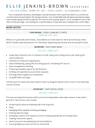 Cv Ms Office Mum Returning To Work Cv Example Free One Page Cv Template