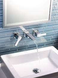 bathroom tile backsplash. Striking Stone Tile Backsplash Bathroom A