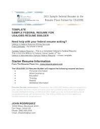 Federal Resume Templates Gorgeous Usajobs Resume Builder Tool Resume Builder Resume Builder Federal