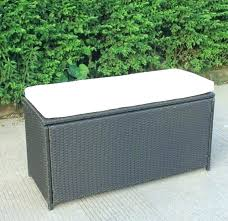 outdoor wicker storage bench knight home wing garden seat resin pa outside