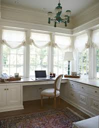 traditional office design. love the soft white window treatments home office feminine ideas hers design traditional m