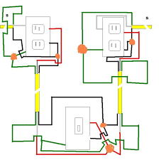 2 half hot outlets, 2 sources, 1 switch electrical diy chatroom Wiring Diagram for Switch and Receptacle at Half Switched Outlet Wiring Diagram