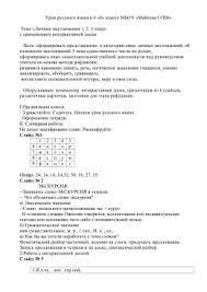 Вопросительные и относительные местоимения Урок русского языка в 4 классе по теме Личные местоимения