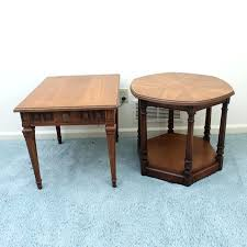 old wooden coffee table vintage side tables including globe furniture modern village nest of
