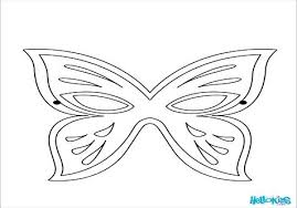 Face Coloring Printable Masks Page Image Images Large Butterfly ...